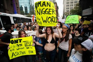 The Slutwalk is a racist event with racist attendees